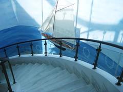 Stairway to the Pool (FlipMode79) Tags: blue light white stairs shadows greece mykonos elia mykonianimperialresort
