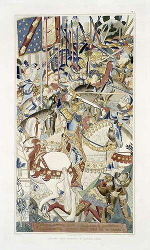 005-Tapiceria que pertenecio al caballero Bayard-Les anciennes tapisseries historiées…1838- Achille Jubinal
