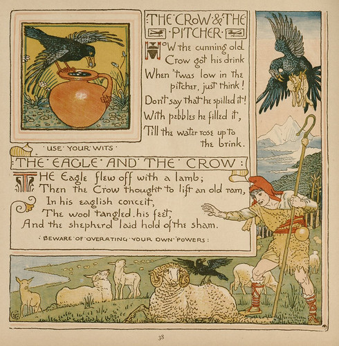 Cornix et Urna; Corvus Aquilam Imitans