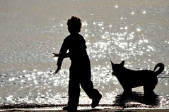 Mateo and the dog backlighting (erbecke) Tags: dog contraluz uruguay nikon child mateo