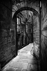 Arch and Curve (mcb photography) Tags: stone mystery dark scotland alley edinburgh fear spooky unknown dread curve narrow supershot thebestofday