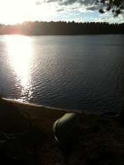 Another perfect day at Pog Lake (Algonquin Park). Bye to Mark and his family, hello to Alex and the Viberts
