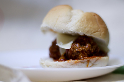mini meatball sandwich