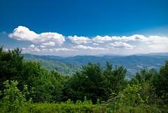 View from Okraglik (Kruhliak) (pawelkarski) Tags: sky mountains forest landscape nikon poland polska nikkor bieszczady gory 1870 krajobraz d80