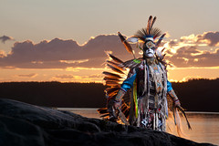 Empire of the Sun (davebrosha) Tags: boy summer lake water sunrise photoshoot dancing native creative dancer danny aboriginal northwestterritories stephens backbay yellowknife greatslavelake powwow micmac modelreleased davebroshaphotography micmaq warriormicmaq