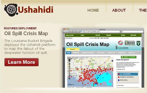 Home Page do Ushahidi