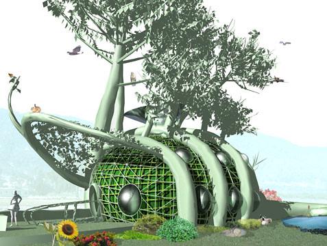 joaquim mitchel living-treehouse-design