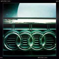 Rings (Jeremy Brooks) Tags: sanfrancisco california usa car emblem rings vehicle audi iphone photochallenge sanfranciscocounty augustchallenge hipstamatic augustchallenge2010