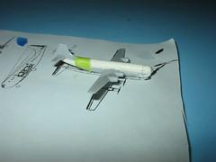 Boeing 377, 1/700 (wbaiv) Tags: japan plane airplane flying conversion aircraft machine battle plastic inprogress 1700 b29 377 modelairplanes skywave stratocruiser