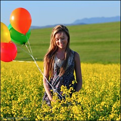 Spring...into...Summer... (Craig Pitchers) Tags: flowers portrait cute girl smile pose southafrica prime spring model nikon pretty dress farm sigma capetown hills baloons canola durbanville 105mm d90 sigma105mmf28 nikond90
