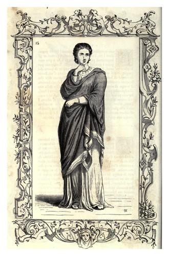002-Dama romana con estola-Habiti antichi et moderni di tutto il mundo- Cesare Vecellio