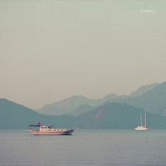 ({cindy}) Tags: ocean morning sea mist mountains turkey square boats boat 365days