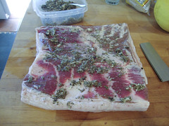 Porchetta - 1st layer - belly with rub