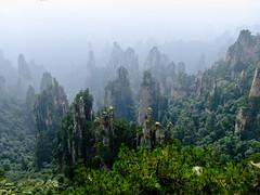 Zhangjiajie (E_O_S) Tags: mist mountains rock fog landscape finepix fujifilm pillars quartz province hunan zhangjiajie superccd f70exr
