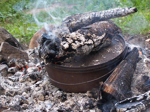 Baking in Dutch Oven at Mountain Pond. T by andyarthur, on Flickr