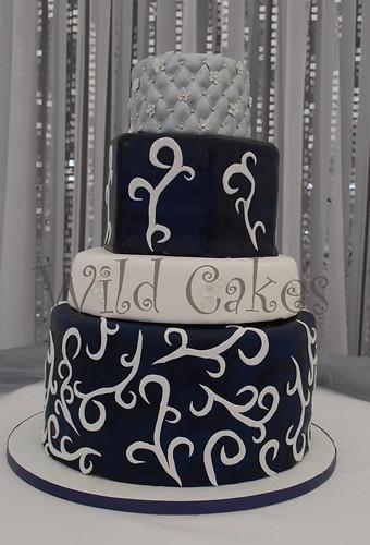 silver navy wedding cake a photo on Flickriver