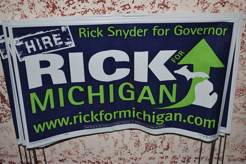 Rick Snyder for Governor Yard Sign
