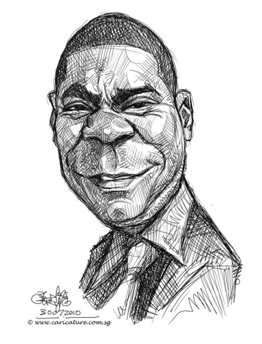 digital sketch studies of Tracy Morgan - 5