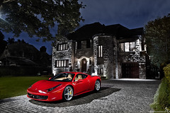 Wealth (Stephan Bauer) Tags: red night italia montreal ferrari exotic bauer stephan supercar wealth 458