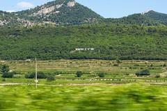 Douce Provence (Gepat) Tags: france montagne canon landscape eos movement vine vin provence paysage vignoble moutain vigne mouvement vitesse vacqueyras eos40d