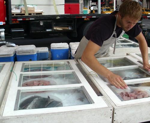 Fishmonger at Union Square Market
