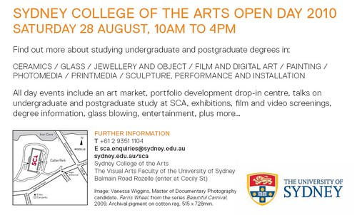sca open day flyer