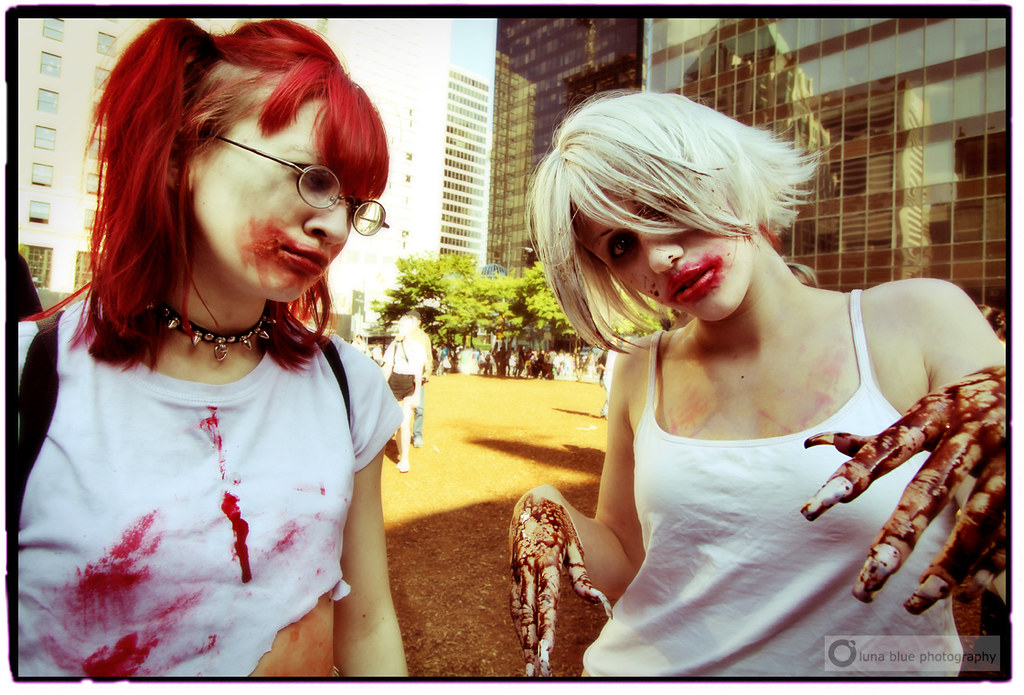 71b0bd803 Vancouver Zombie Walk 2010 (PiscesDreamer) Tags: street city portrait urban  canada vancouver costume