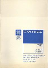 Consul 7113 -- Spare parts list / Katalog náhradních dílů