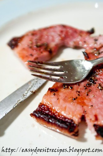 sweet grilled gammon