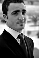 Iliano (Giuseppe Sirni) Tags: portrait man male blackwhite tie bn uomo chic elegant ritratto biancoenero elegante cravatta blackandwithe