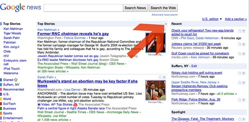 Google News Collapse Side Section