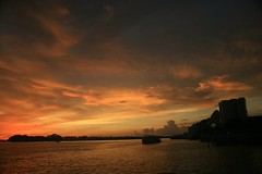 One Day.. . . You Will Come Back To Me .. . . . (PRAVEEN VENUGOPAL) Tags: sunset sea sky lake love water colors clouds sunrise river boat god silhoutte