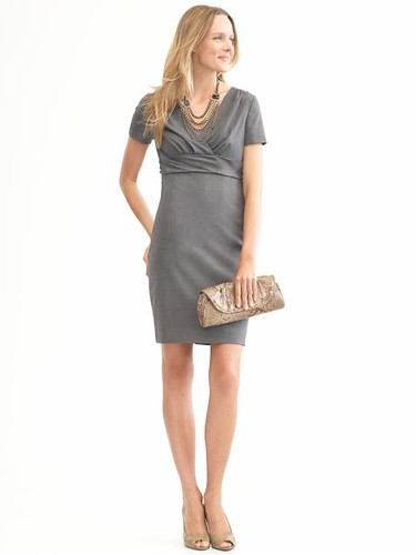 Banana Republic grey shift dress