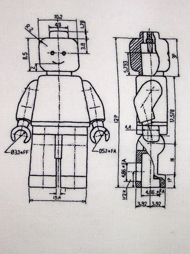 Embroidered LEGO tech specs
