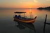 Daybreak Aug 28, 2010 [i] (ChR!s H@rR!0t) Tags: bridge sea sun reflection sunrise boat penang sampan