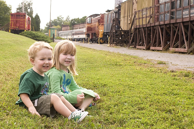 At the train museum