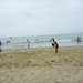 Playing football on Cua Dai Beach