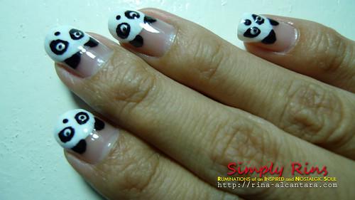 Nail Art Panda 07