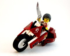 This aint no boys club. (Aaron (-_-)) Tags: lego cyberpunk brickarms
