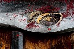 Wooden Eye (janet little) Tags: building peeling paint michigan roadtrip weathered ttt