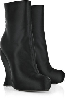 bottega veneta Satin wedged boots
