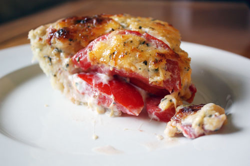 slice o' tomato pie.