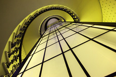 Hamburg,Slomanhaus (Dietmar Temps) Tags: city abstract colors lines stairs port germany geometry availablelight hamburg perspective symmetry stairway staircase spiralstaircases reederei reeder sloman mywinners shippingcompany slomanhaus robertmsloman