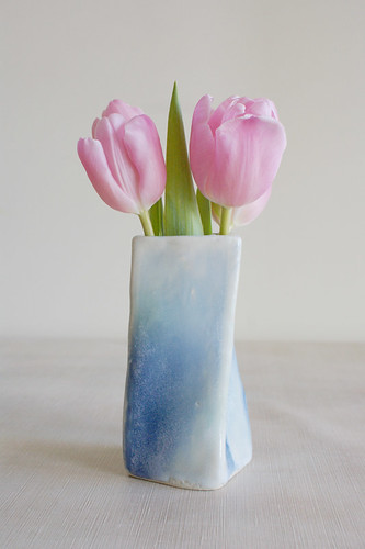 Blue & Green Twisted Vase