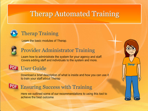 Menu of the Automated Training CD