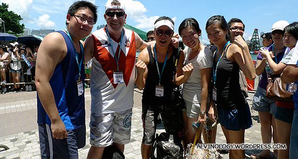 Me with the other four omy.sg bath tub race representatives