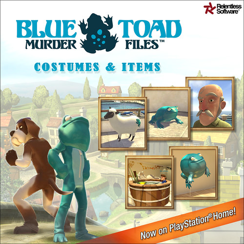 Blue Toad Murder Files in PlayStation Home