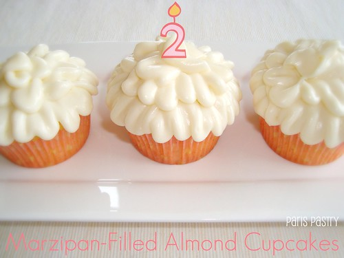 Marzipan-Filled Almond Cupcakes