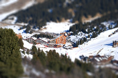 Meribel-Mottaret station (fatseth) Tags: mountain snow miniature village snowboard savoie meribel tiltshift mottaret
