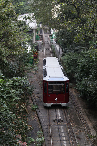 Heading downhill past the old depot at MacDonnell Road